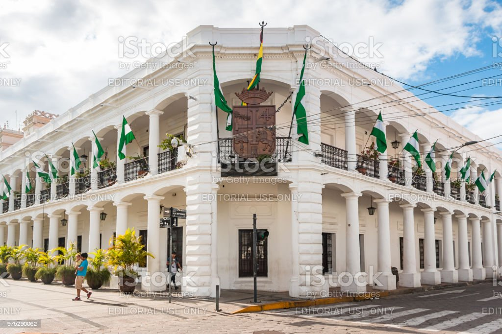Municipal Government Building in downtown Santa Cruz de la Sierra Bolivia stock photo