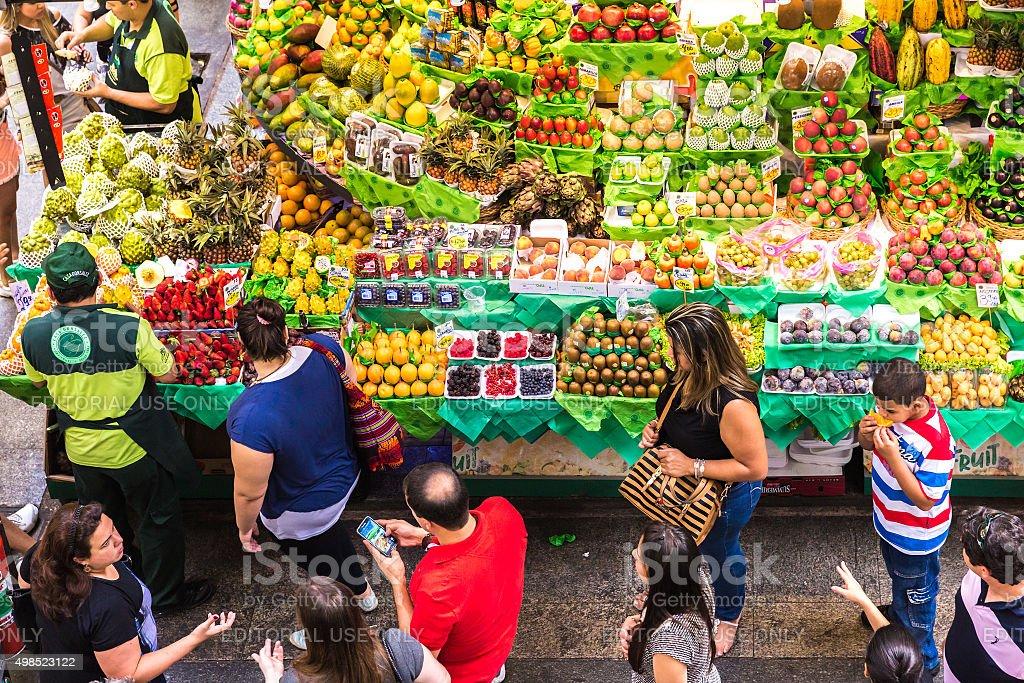 Municipal Market (Mercado Municipal) in Sao Paulo stock photo