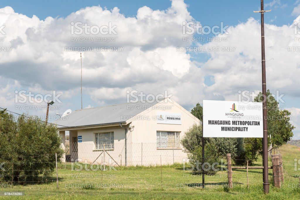 Municipal offices in Vanstadensrus in the Free State Province stock photo