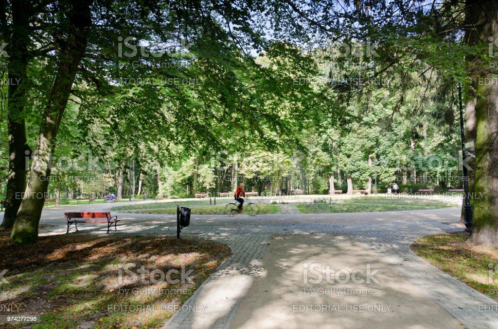 Municipal park 'Zdrojowy', Swinoujscie, Poland. stock photo