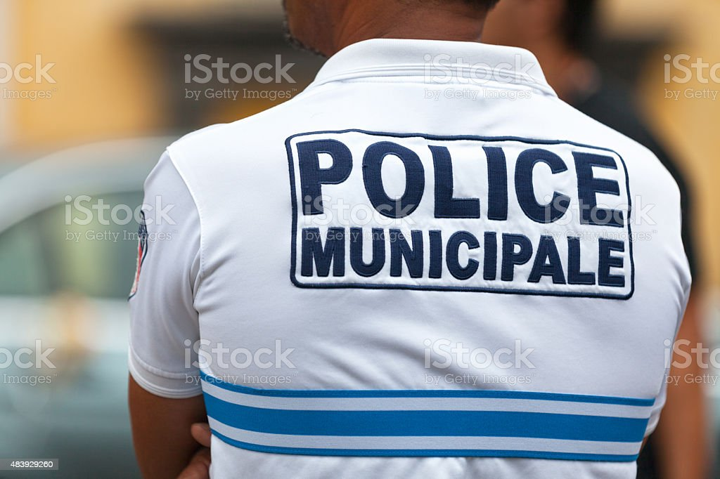 Police Municipale Picture of an agent of the  2015 Stock Photo