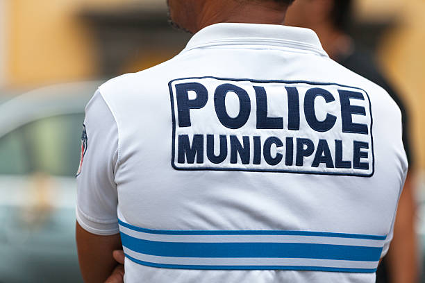 Municipal Police stock photo