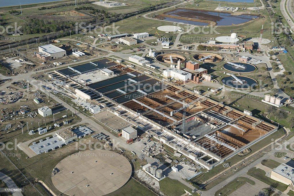 Municipal Sewage Water Treatment Facility stock photo