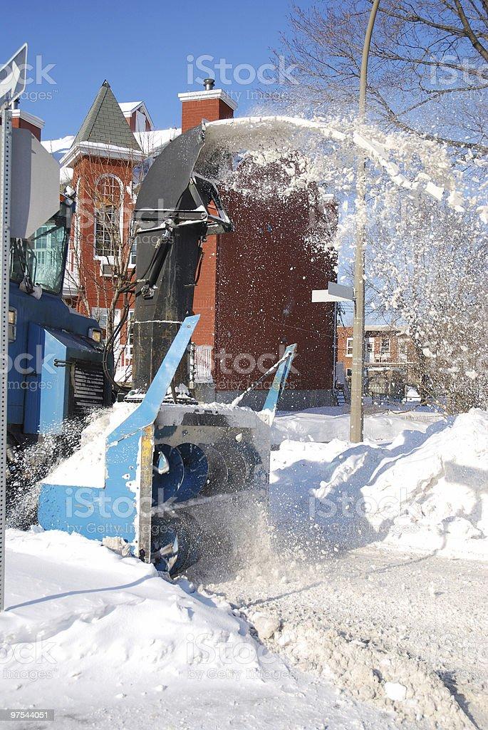 Municipal snow blower royalty-free stock photo