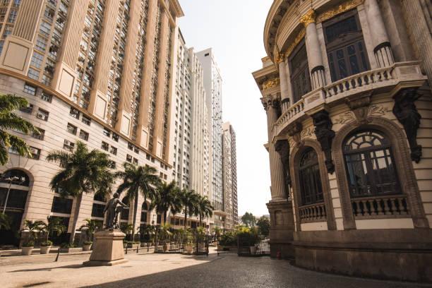 Municipal Theater Building in Downtown Rio de Janeiro stock photo