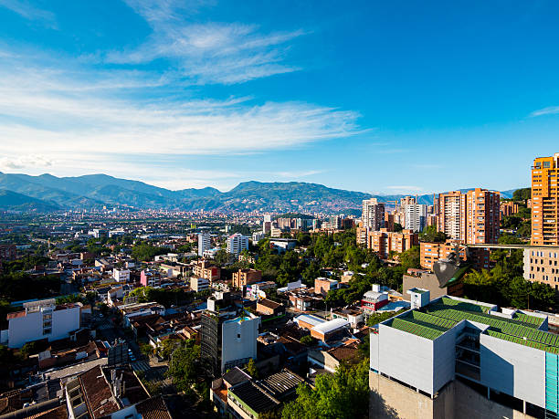 municipality of medellin in colombia - colombia stock photos and pictures