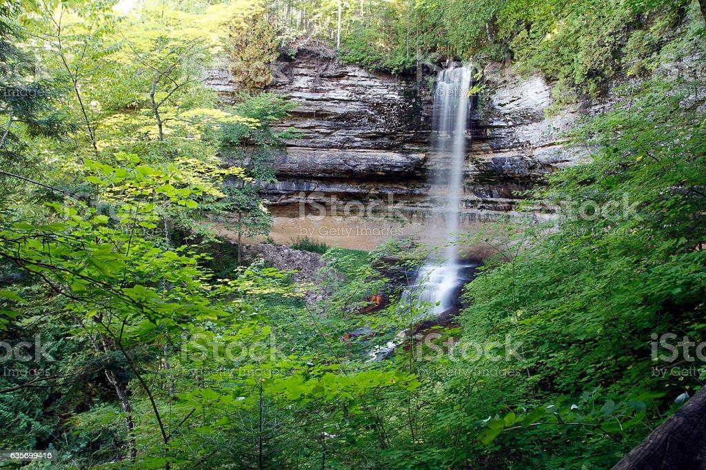 Munising Falls stock photo