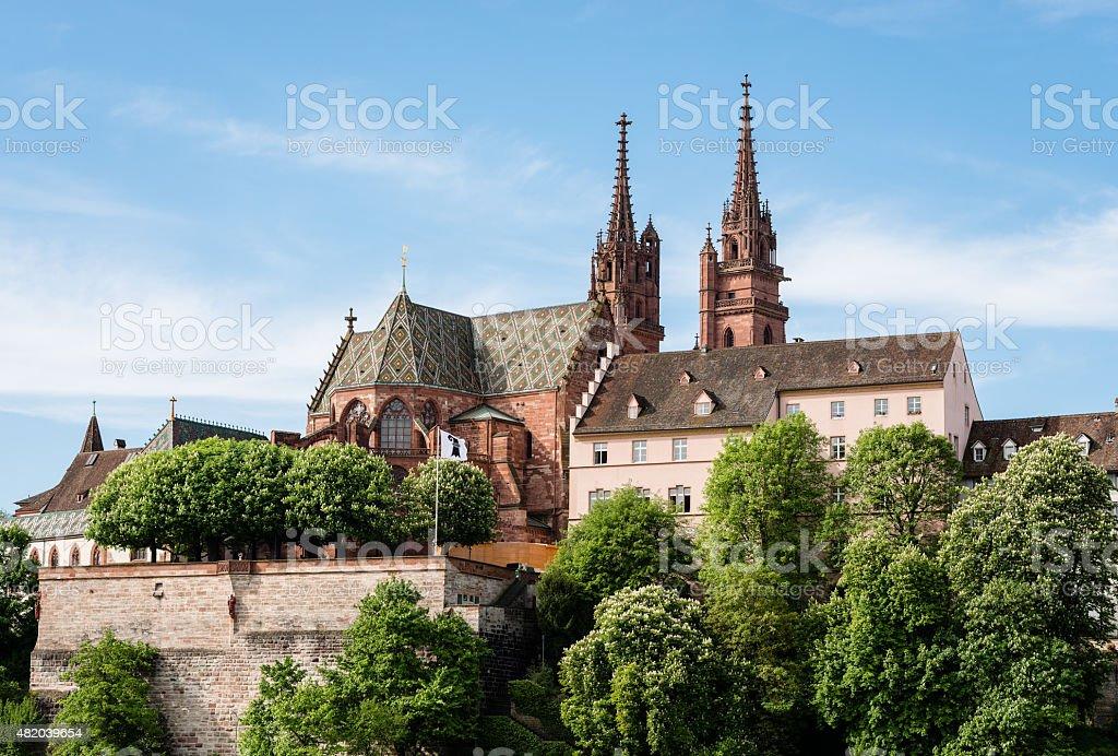 Munster of Basel, Switzerland stock photo