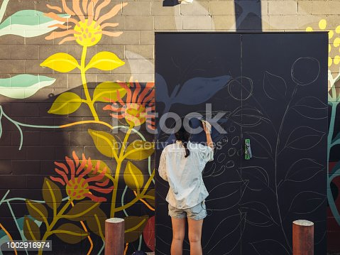 istock Mural artist at work 1002916974