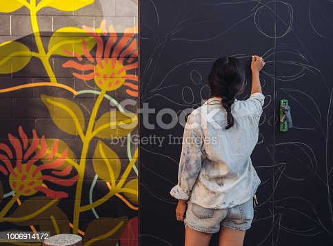 1002918466 istock photo Mural artist at work 1006914172