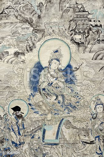 istock Mural Buddhism Patterns 519041634