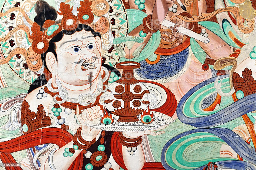Mural Buddhism Patterns stock photo