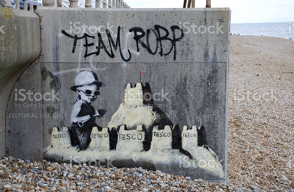 Mural by Banksy, England stock photo