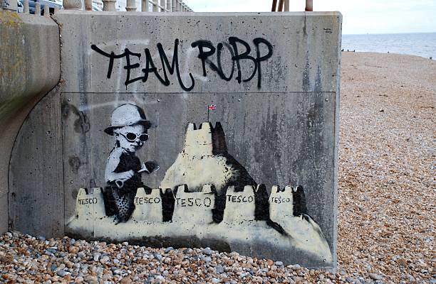 Murale di Banksy, Inghilterra - foto stock