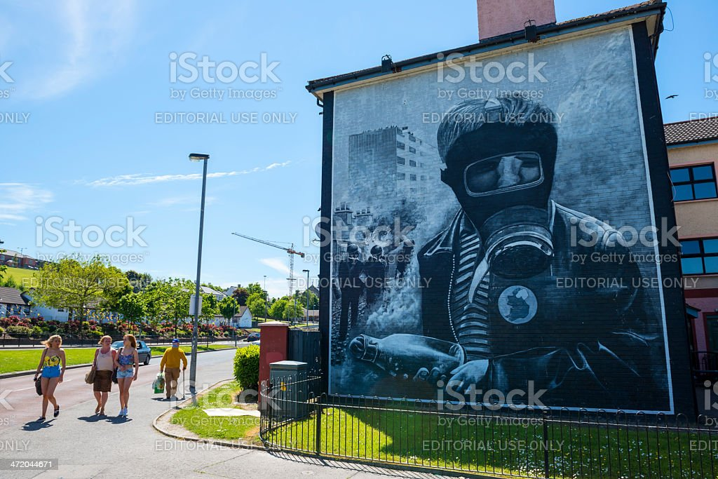 Mural in Derry, Northern Ireland stock photo