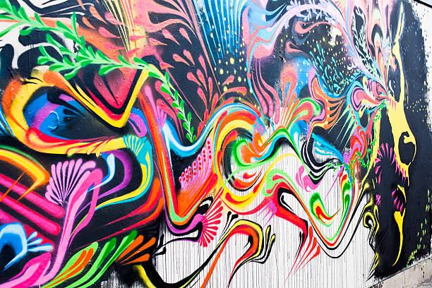 wandmalerei in london, woman's face - sprüche englisch stock-fotos und bilder