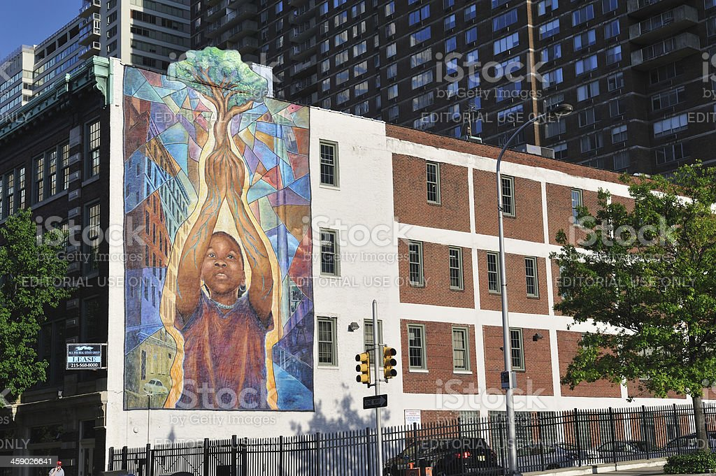Mural in Philadelphia stock photo