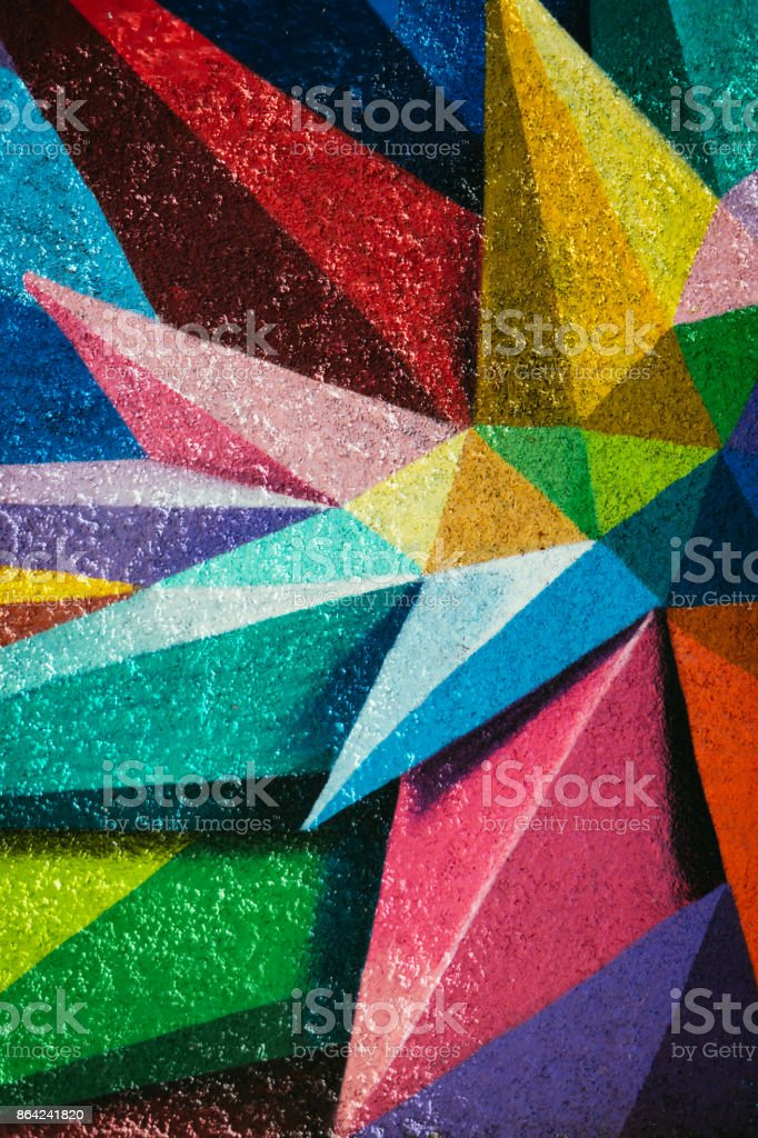 Mural Paint in Madrid, Spain stock photo