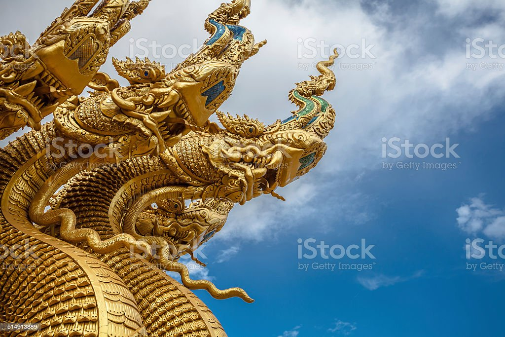 Mural painting of Phumin measured in Nan Province, Thailand stock photo