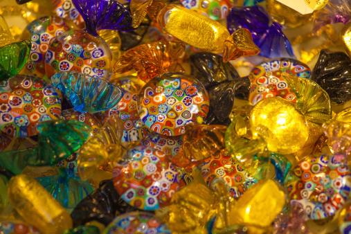 murano glass candy
