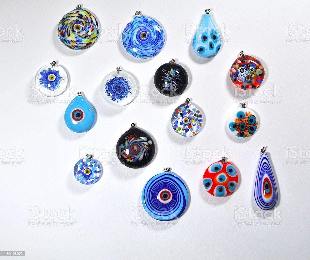 Murano Glass Jewelry Art stock photo