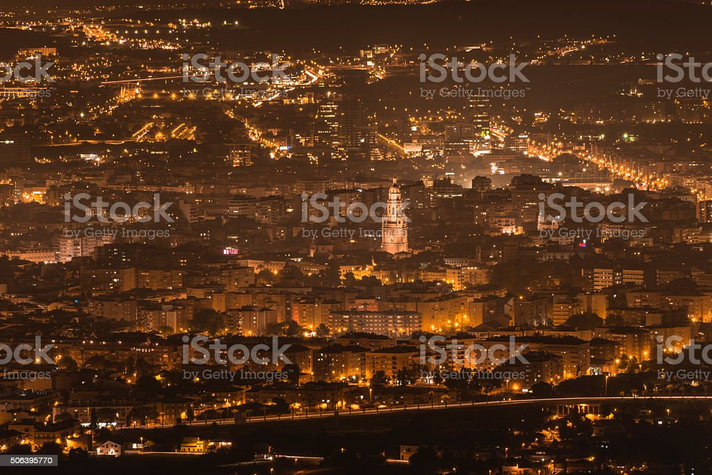 Murcia at night II stock photo