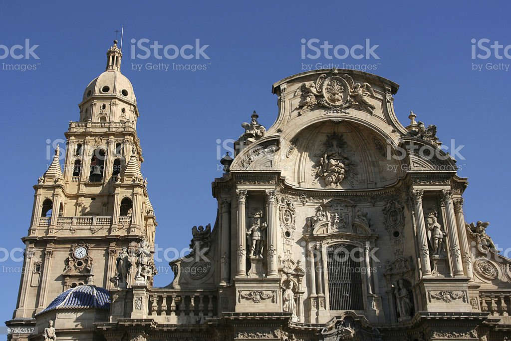 Murcia cathedral royalty-free stock photo