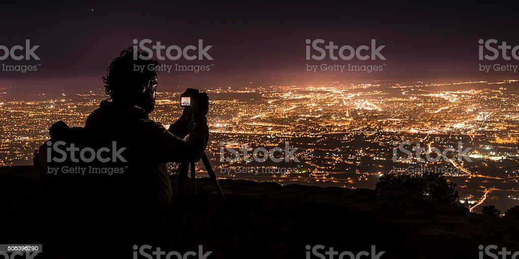 Murcia photographing night III stock photo