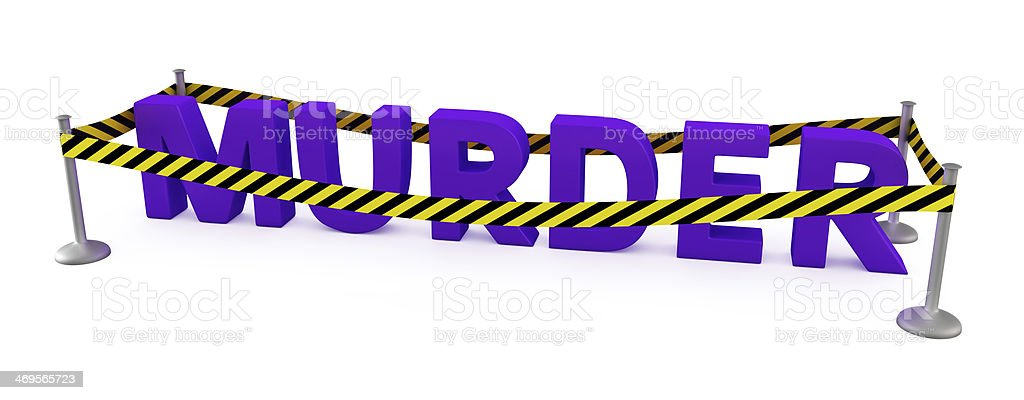 Murder area royalty-free stock photo