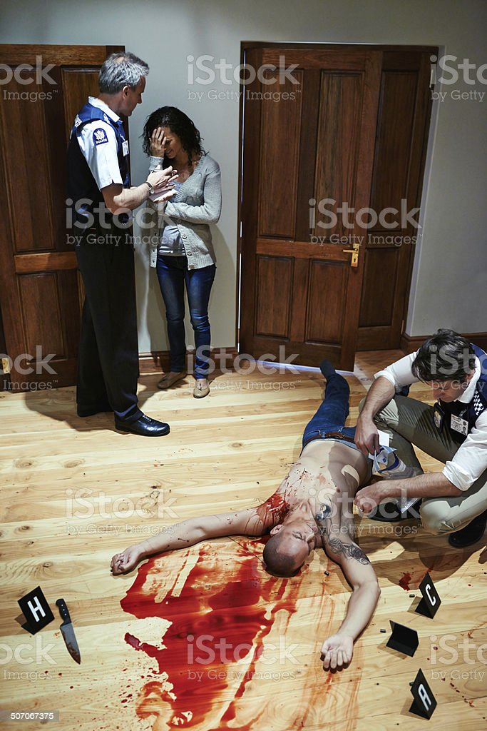 Murder by numbers royalty-free stock photo