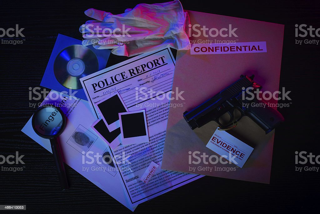 Murder case files stock photo