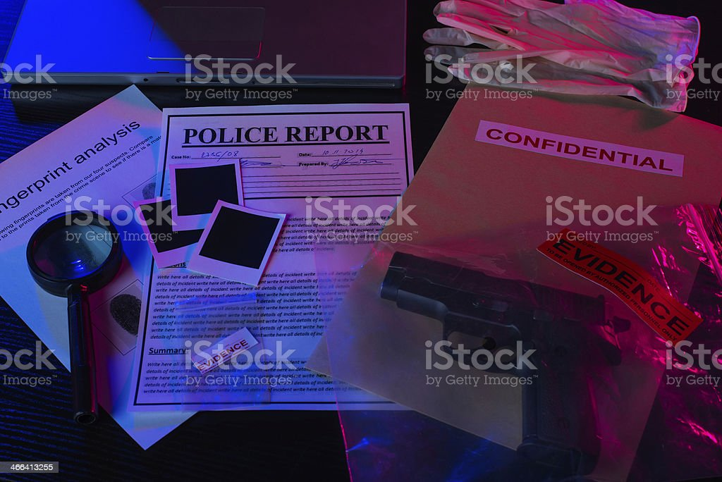 Murder investigation stock photo