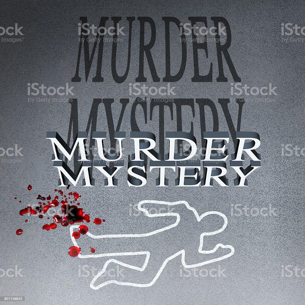 Murder Mystery Illustration stock photo