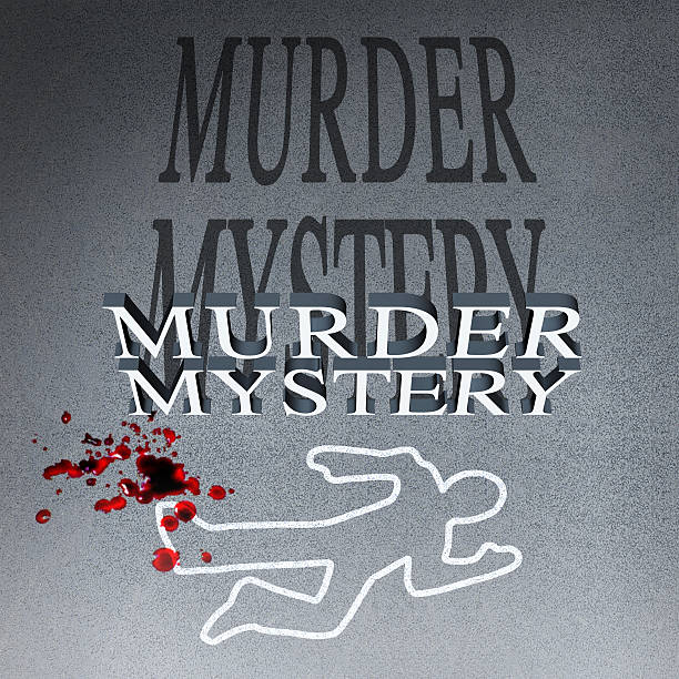 murder mystery illustration - murder mystery stock photos and pictures