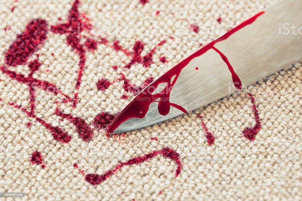Murder on the carpet. stock photo