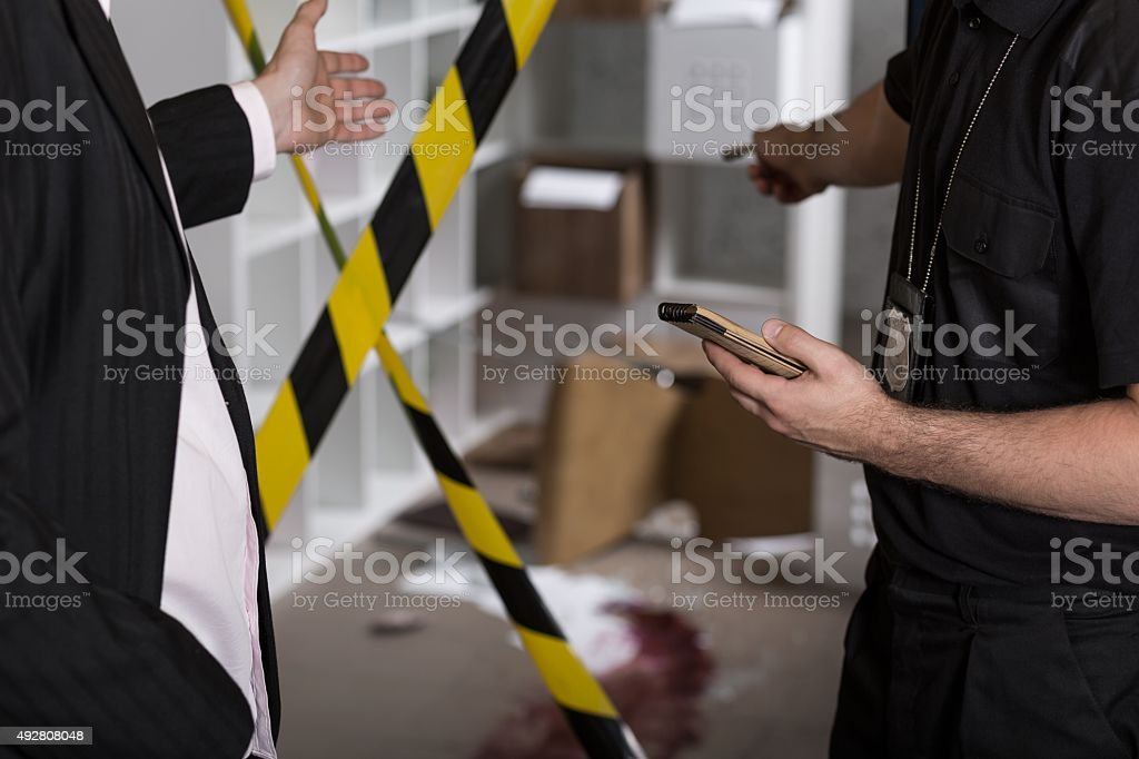 Murder or crime scene stock photo