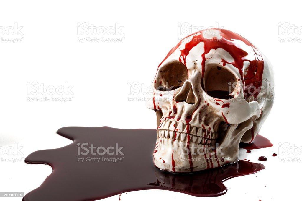 Murder scene, genocide and halloween concept stock photo