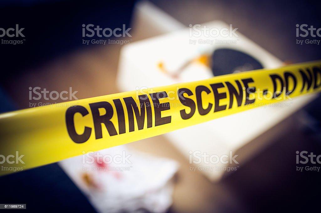Murder scene stock photo
