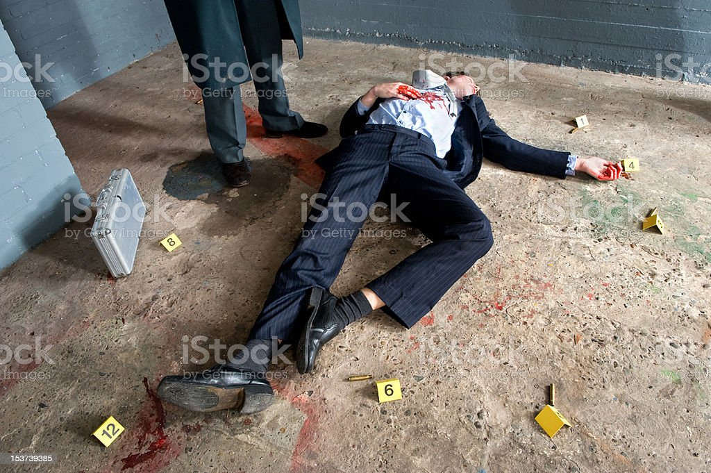 Murder Victim stock photo