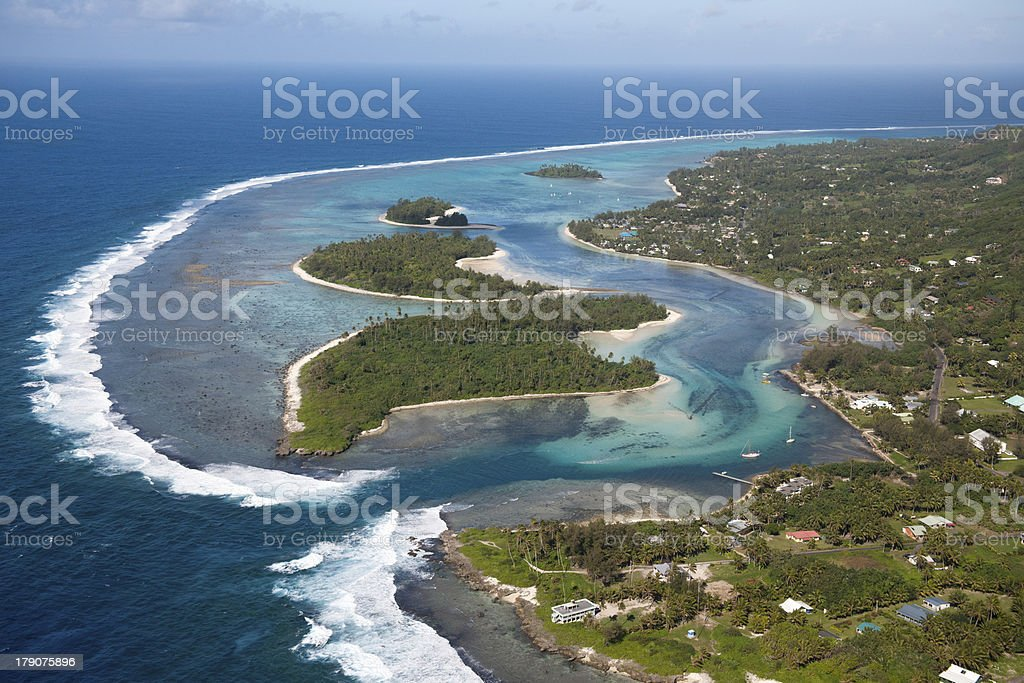 Muri Beach - Rarotonga royalty-free stock photo