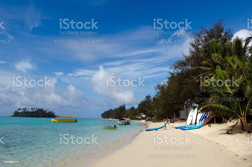Muri lagoon in Rarotonga, Cook Islands stock photo