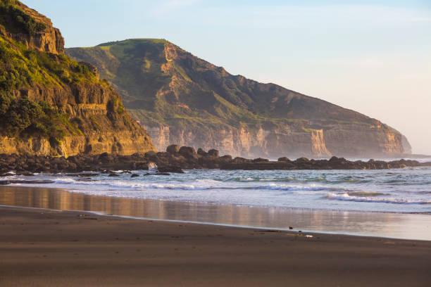 Muriwai Sunset stock photo