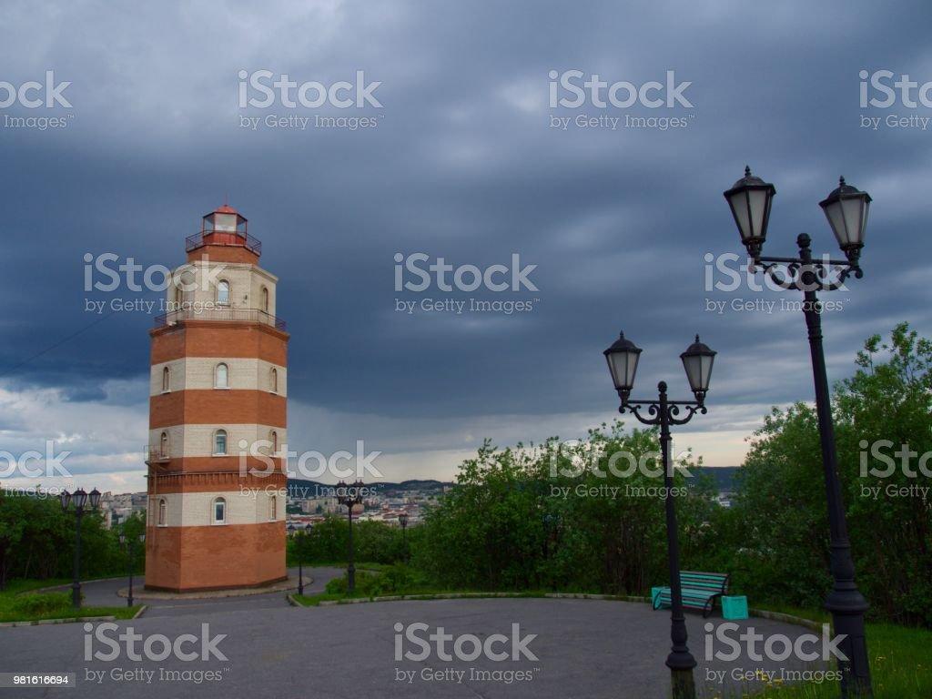 Murmansk, Russia. city landscape stock photo