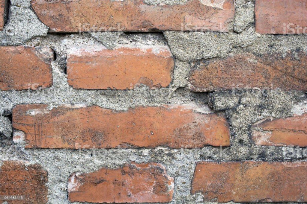 muro di mattoni in terracotta royalty-free stock photo