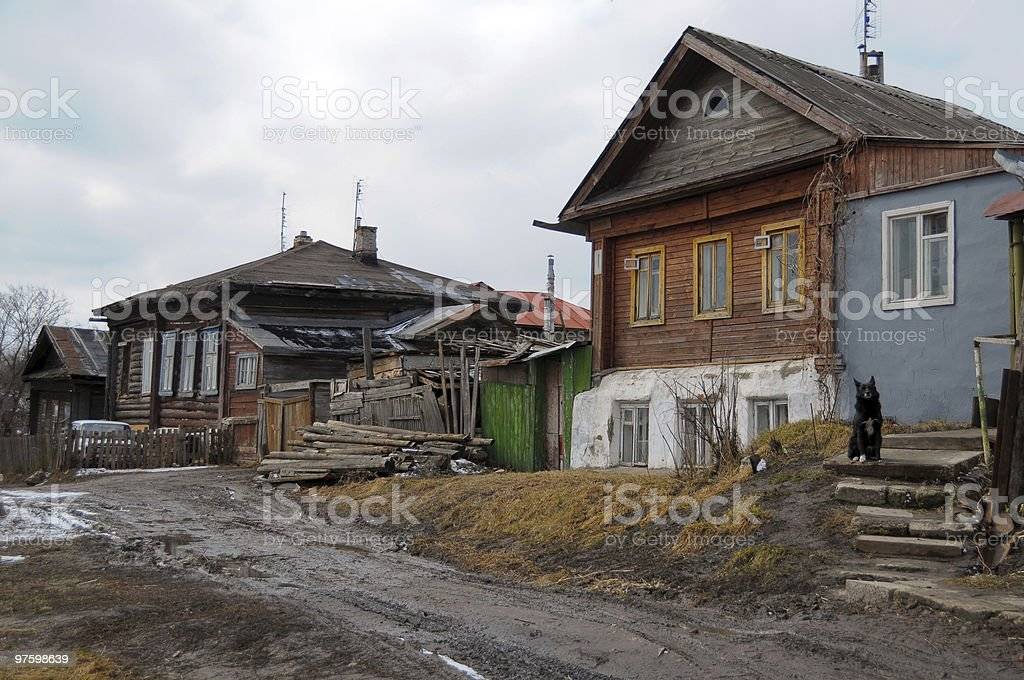 Murom. A city street royalty-free stock photo