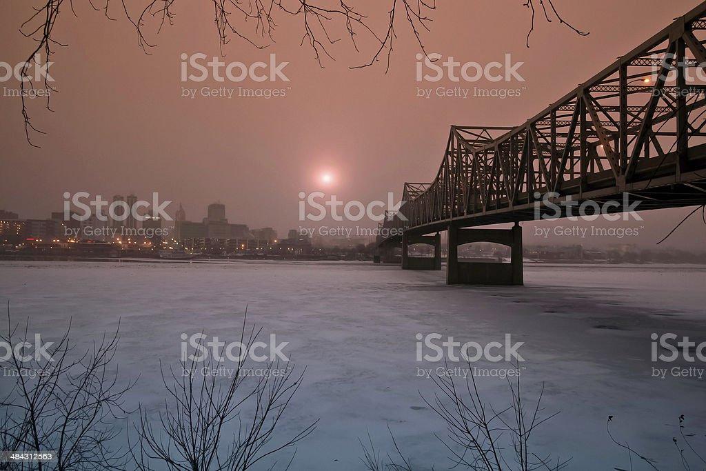 Murray Baker Bridge, Peoria IL USA stock photo