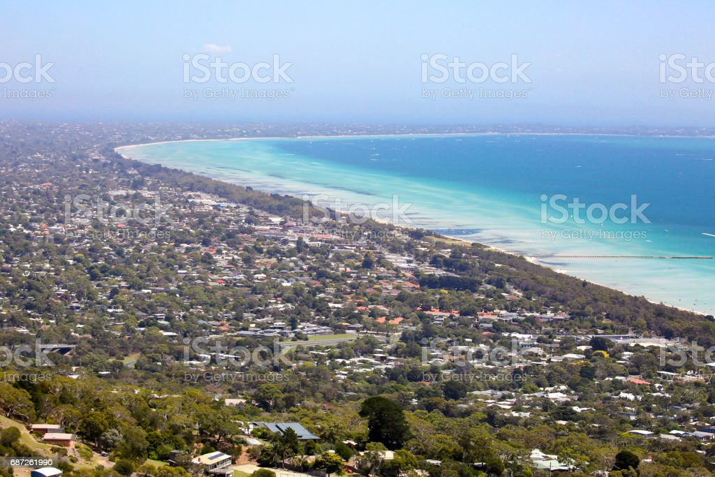 Murray's Lookout over Mornington Peninsula stock photo