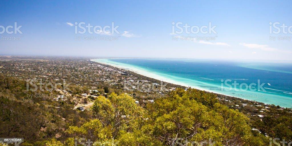 Murray's Lookout over Mornington Peninsula stock photo