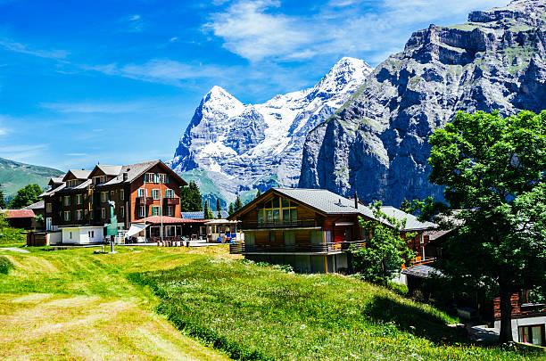 Murren, Switzerland, with Eiger – Foto
