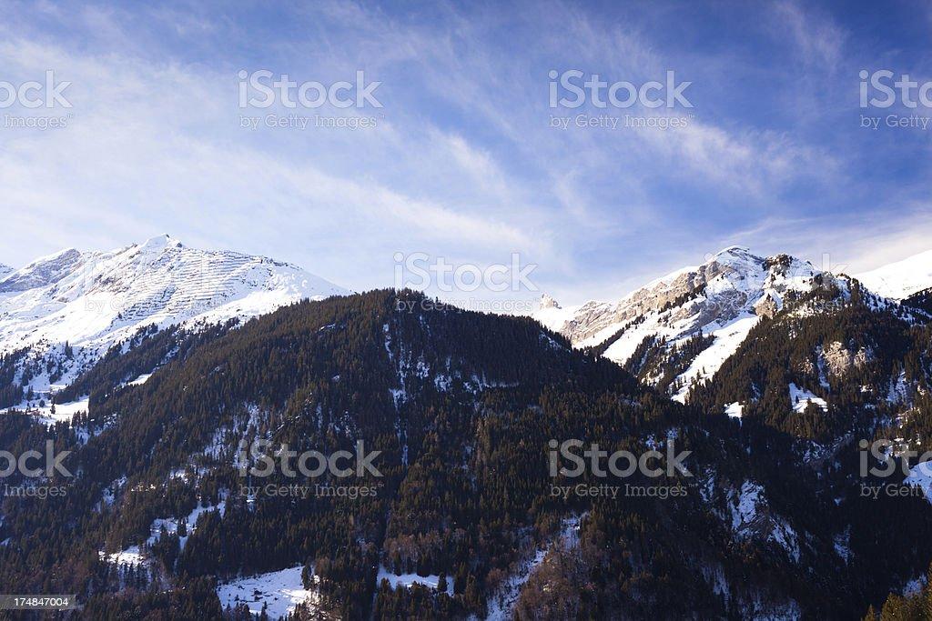 Murren view from Jungfraujoch royalty-free stock photo
